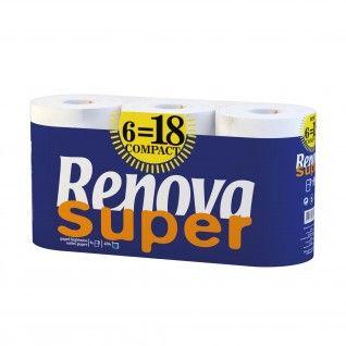 Papel Higiénico Renova Super Compact 6 = 18