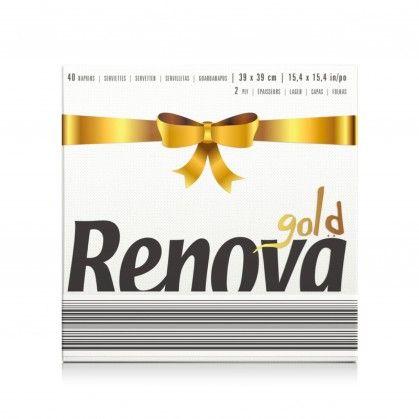 Guardanapos Renova Gold Branco