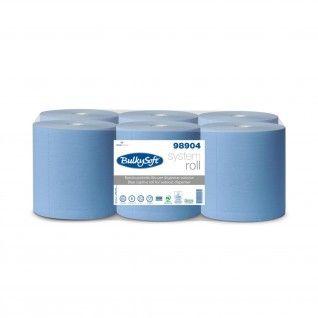 Toalhas de Mão em Rolo BulkySoft System 200m 2 Folhas Blue