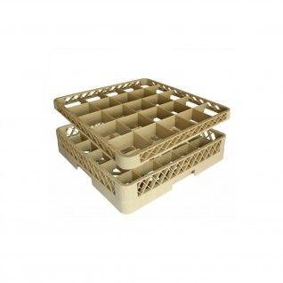 Suplemento Rack 25 Compartimentos 50 x 50 x 4,5 cm Beige PP