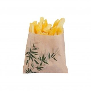 """Embalagem para Batatas Fritas """"Feel Green"""" 12 x 12 cm"""