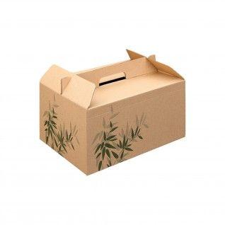 "Lunch Boxes ""Feel Green"" 28 x 20 x 15 cm Cartão"