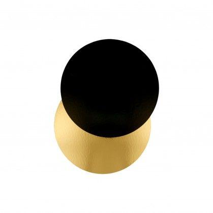 Cartão 2 Lados para Pastelaria 950 gr/m2 Ø 22 cm Dourado/Pre