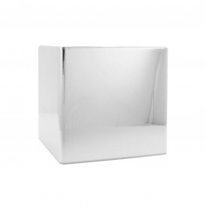 Dispensador de Lenços Tissue 13 x 13 x 13 cm Cromado ABS