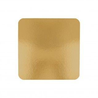 Cartão 2 Lados para Pastelaria 950 gr/m2 20 x 20 cm Dourado/