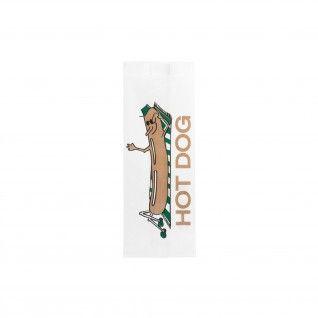 """Sacos """"Hot Dog"""" 32 gr/m2 7 + 5 x 18 cm Papel Pergaminho Anti"""