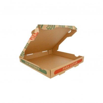Caixas Pizza Micro-Caneladas Ecológicas 350 gr/m2 26 x 26 x