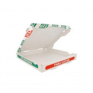 Caixas Pizza Micro-Caneladas 348 gr/m2 26 x 26 x 3,5 cm Bran