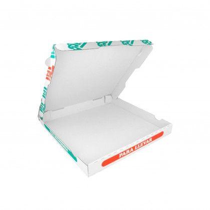 Caixas Pizza Micro-Caneladas 348 gr/m2 32 x 32 x 3,5 cm Bran