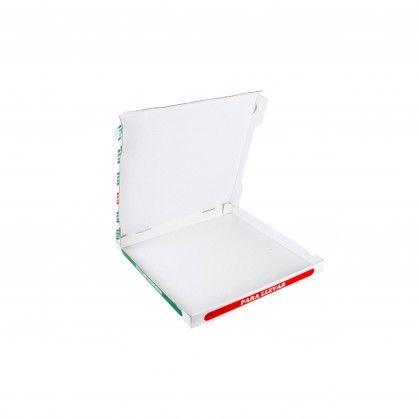Caixas Pizza Micro-Caneladas 348 gr/m2 40 x 40 x 3,5 cm Bran