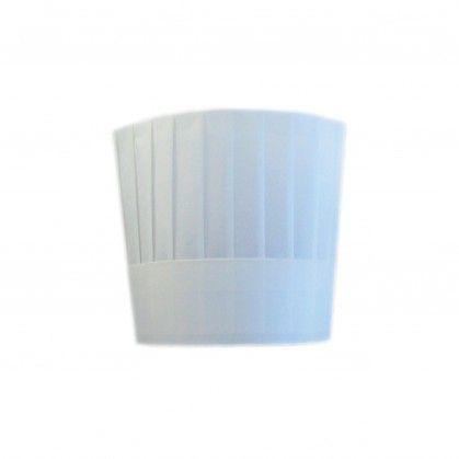 Touca de Chef Clássica Ajustável 23 cm Branco Tissue