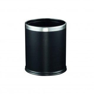 """Papeleira para Quartos """"Deluxe"""" 9 L Ø 22,5 x 27 cm Preto Aço"""
