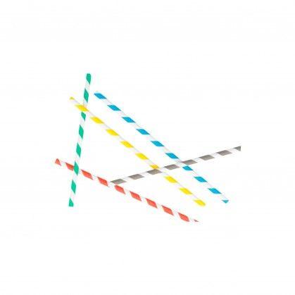 Sortido Palhinhas Direitas Riscas Ø 0,60 x 20 cm Papel