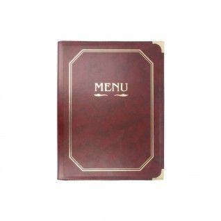 Porta-Menus 8 Capas Din-A4 25,5 x 33 cm Bordeaux PVC