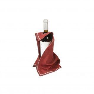 """Panos em Rolo """"Cubi-Drap"""" 40 x 40 cm Bordeaux Algodão"""