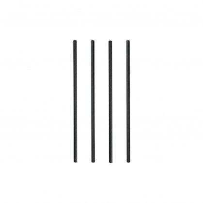 Palhinhas Direitas Ø 0,60 x 20 cm Preto Papel