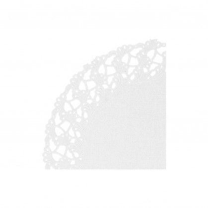 Naperon 53 gr/m2 Ø 14 cm Branco Papel