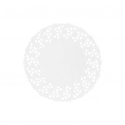 Naperon 53 gr/m2 Ø 9 cm Branco Papel