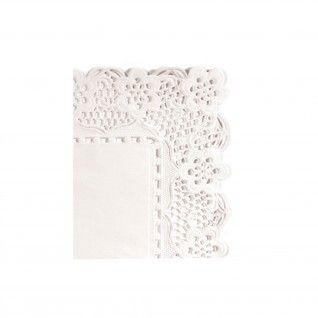 Naperon Retangular 53 gr/m2 27 x 21 cm Branco Papel