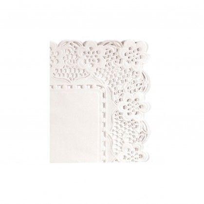 Naperon Retangular 53 gr/m2 32 x 26 cm Branco Papel