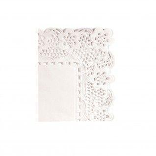 Naperon Retangular 53 gr/m2 37 x 26 cm Branco Papel