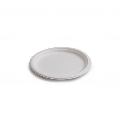 Prato Raso Redondo Branco 17 cm