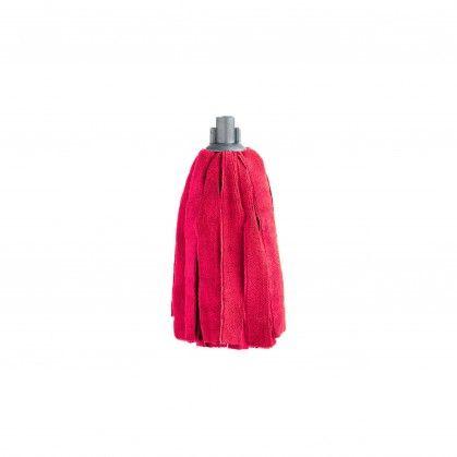 Esfregona de Tiras Microfibra 170 gr Vermelha