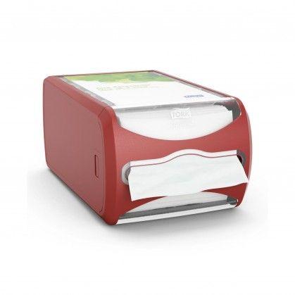 Tork Xpressnap® Balcão Dispensador de Guardanapos Vermelho