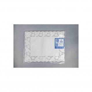 Naperon Branco Rendado Rectangular 8 39 x 50 cm