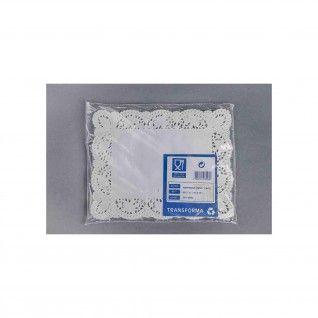 Naperon Branco Rendado Retangular 3L 30,5 x 24 cm