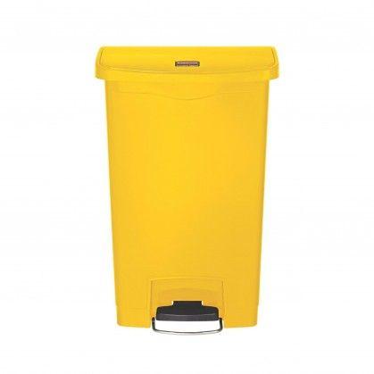 Papeleira com Pedal Frontal Slim Jim 50 L Amarelo