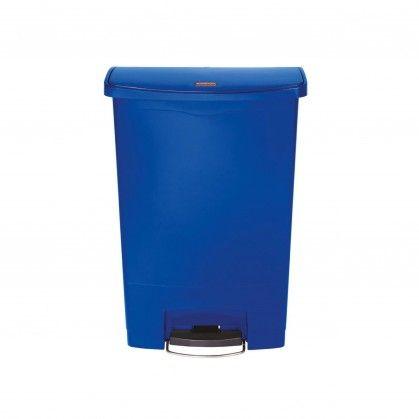 Papeleira com Pedal Frontal Slim Jim 90 L Azul