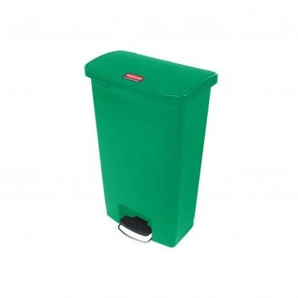 Papeleira com Pedal Frontal Slim Jim 68 L Verde