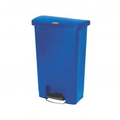 Papeleira com Pedal Frontal Slim Jim 50 L Azul