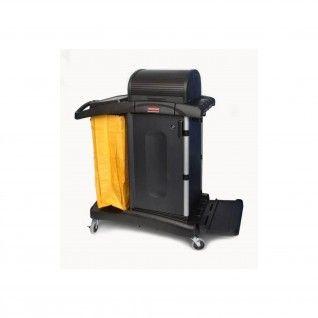 Carro de Limpeza Giratório com Portas High Security Preto