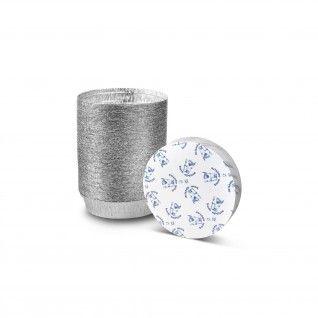Forma de alumínio redonda com tampa 1/2 Dose 950 ml