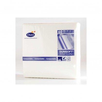 Guardanapos Dunisoft® 40 x 40 cm Branco