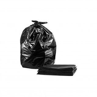 Saco Lixo PEBD Preto (10 micras) 90 x 130 cm