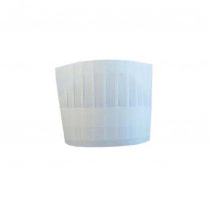 Touca de Chef Clássica Ajustável 18 cm Branco Papel Telado