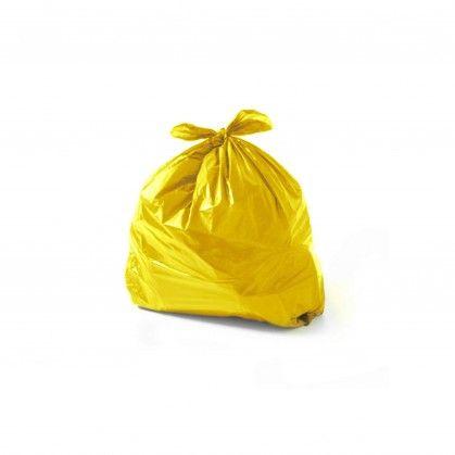 Saco Lixo PEBD Amarelo 90 x 120 cm