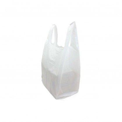 Saco com Alça PEAD Branco 50 x 60 cm