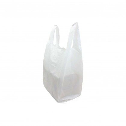 Saco com Alça PEAD Branco 35 x 45 cm
