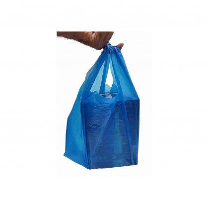 Saco com Alça PEAD Azul 30 x 40 cm