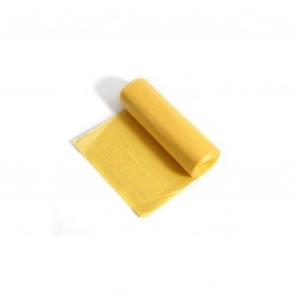 Saco Lixo Rolo PEBD Amarelo 80 x 120 cm