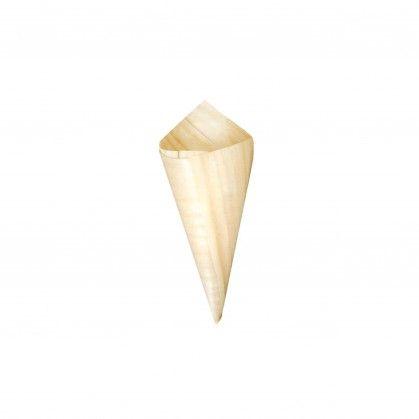 Cone Casca de Pinheiro 8 cm Madeira