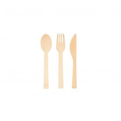 Conjunto Garfo, Faca e Colher & Guardanapo 20 cm Bambu