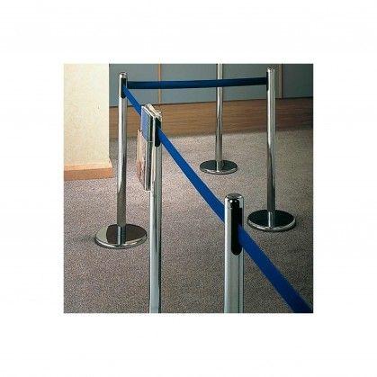 Colunas Móveis com Cinta Retrátil Ø 36 x 104 cm Azul