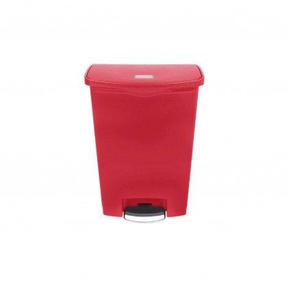 Papeleira com Pedal Frontal Slim Jim 90 L vermelha