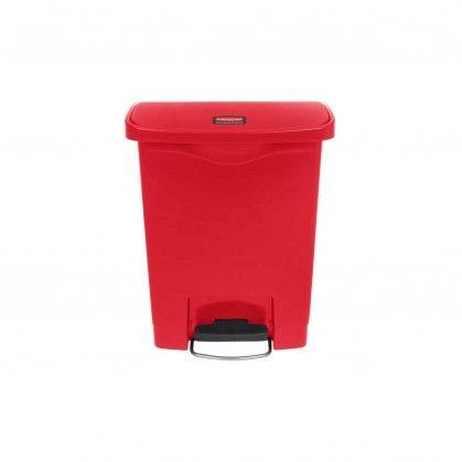 Papeleira com Pedal Frontal Slim Jim 30 L Vermelha