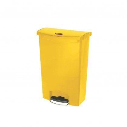 Papeleira com Pedal Frontal Slim Jim 90 L amarela